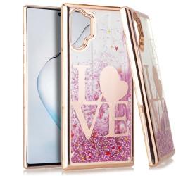 CHROME Glitter Motion Love ROSE GOLD For Samsung Note 10 Plus