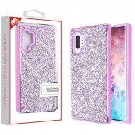 Electroplated Purple/Purple Encrusted Rhinestones Hybrid Case(with Package) For Samsung Note 10 Plus