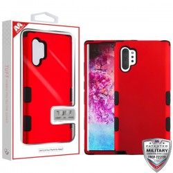 Titanium Red/Black TUFF Hybrid Protector Cover [Military-Grade Certified](with Package) For Samsung Note 10 Plus