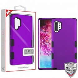Rubberized Grape/Black TUFF Hybrid Protector Cover [Military-Grade Certified](with Package) For Samsung Note 10 Plus