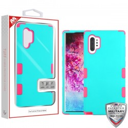 Rubberized Teal Green/Electric Pink TUFF Hybrid Protector Cover [Military-Grade Certified](with Package) For Samsung Note 10 Plus