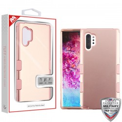 Rose Gold/Rose Gold TUFF Hybrid Protector Cover [Military-Grade Certified](with Package) For Samsung Note 10 Plus