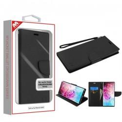 Black Pattern/Black Liner MyJacket Wallet Crossgrain Series(84A) -WP Samsung Note 10 Plus