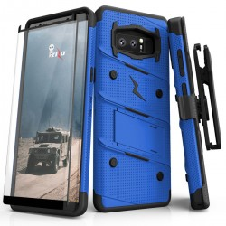 ziZo Bolt with Kickstand, Holster, Temperd Glass, Lanyard for Samsung Galaxy NOTE 8