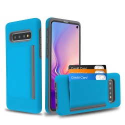 MYBAT Blue/Gray Poket Hybrid Protector Cover (with Back Film)(with Package) for Samsung Galaxy S10
