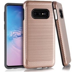 Brushed Metallic W/Edge for Samsung Galaxy S10e_ROSE GOLD