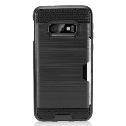 Brushed Metal Hybrid with Card Slot for Samsung Galaxy S10 PLUS