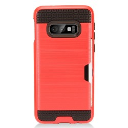 Brushed Metal Hybrid with Card Slot for Samsung Galaxy S10e