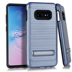 Brushed Metallic EDGE with Magnetic Kickstand for Samsung Galaxy S10e_BLUE