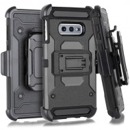 Premium Holster W/Stand for Samsung Galaxy S10e_BLACK