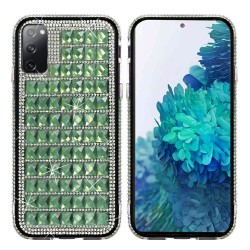For Samsung Galaxy S20 FE 5G Bling Diamond Shiny Crystal Case Cover - Green