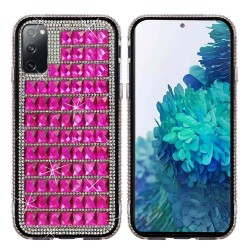 For Samsung Galaxy S20 FE 5G Bling Diamond Shiny Crystal Case Cover - Hot Pink