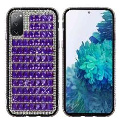 For Samsung Galaxy S20 FE 5G Bling Diamond Shiny Crystal Case Cover - Dark Purple