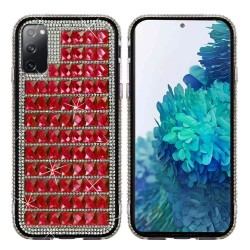 For Samsung Galaxy S20 FE 5G Bling Diamond Shiny Crystal Case Cover - Red
