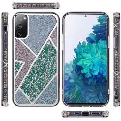 For Samsung Galaxy S20 FE 5G Rhombus Bling Glitter Diamond Case Cover - Green
