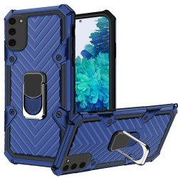 For Samsung Galaxy S20 FE 5G Victory Magnetic RingStand Case Cover - Dark Blue