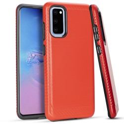 Brushed Case 3 Red Samsung S20 6.2