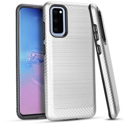 Brushed Case 3 Silver Samsung S20 6.2