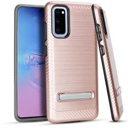 Metal Stand Brushed Case Rose Gold Samsung S20 6.2