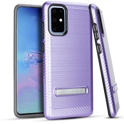 Metal Stand Brushed Case Purple Samsung S20 PLUS 6.7