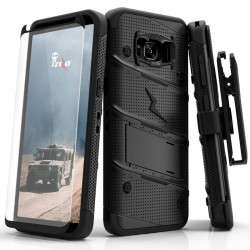 ziZo Bolt with Kickstand, Holster, Temperd Glass, Lanyard for Samsung Galaxy S8 PLUS