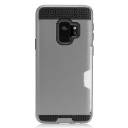 Texture Brushed Metal with Card Slot for SAMSUNG GALAXY S9