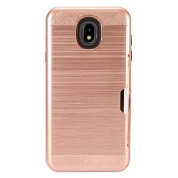 Brushed Metal Hybrid with Card Slot for SAMSUNG J7 2018