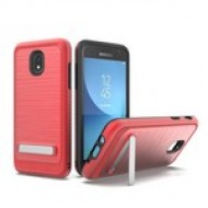 BRUSHED METALLIC W/ EDGE AND KICK FOR SAMSUNG J7 2018_RED