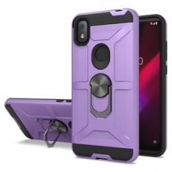 T-Mobile Revvl 4 New Matte Design Brush Case with Ring Stand - Purple