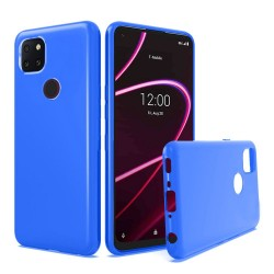 For Revvl 5G TPU Gel Skin Flexible Skinny Case Cover - Blue