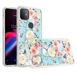 For Revvl 5G Design Transparent Hybrid Case - Harmony Fantastic Design
