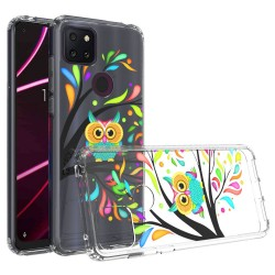 For Revvl 5G Design Transparent Hybrid Case - Owl