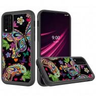 REVVL V Plus 5G Beautiful Design Leather Feel Tough Hybrid Case Cover -  Enchanted Butterfly