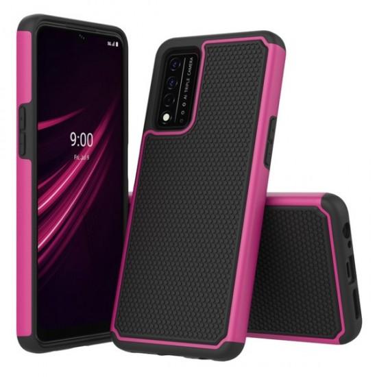 REVVL V PLUS 5G 2021 Premium New Brush Case - Pink