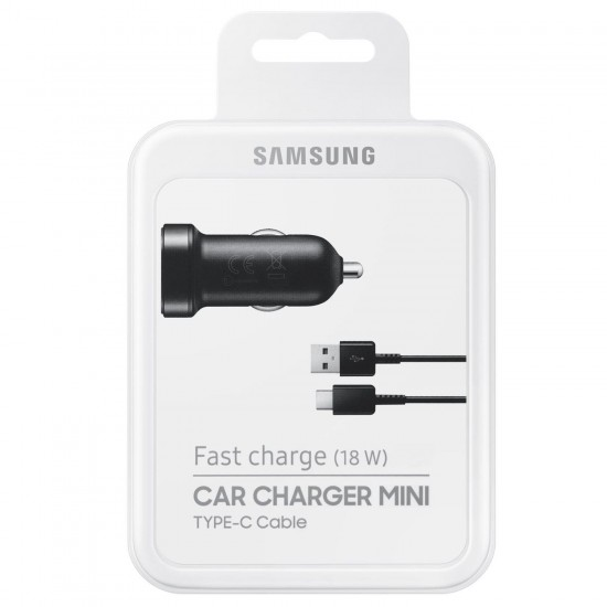 SAMSUNG FAST CHARGE (18W) CAR CHARGER MINI TYPE C CABLE