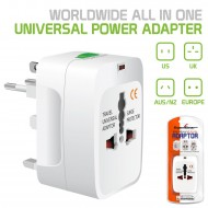 WORLDWIDE  ALL IN ONE UNIVERSAL POWER ADAPTER