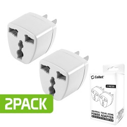 CELLET POWER ADAPTER - ROUND PIN TO FLAT PIN (2PACK)