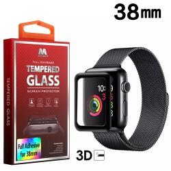 38 mm MYBAT Full Adhesive Premium Tempered Glass Screen Protector/Black
