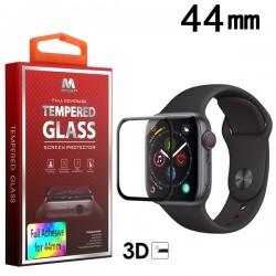 44 mm MYBAT Full Adhesive Premium Tempered Glass Screen Protector/Black