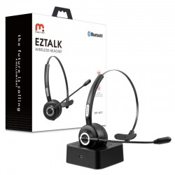 Eztalk Bluetooth Headset with Noise Cancelling Microphone - Black