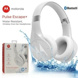 Motorola Pulse Escape+ Water Resistant Wireless Over-Ear Headphones - White