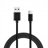 DC27B-MICROBK - REIKO 3.3FT PVC MATERIAL MICRO USB 2.0 DATA CABLE IN BLACK AND LUXURY PACKAGING