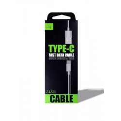 6-FEET RUBBERIZED TYPE-C CABLE WHITE