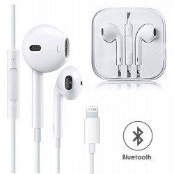 LIGHTNING WIRED (BLUETOOTH) EARPODS HEAD/EARPHONE HANDSFREE FOR IPHONE 7/8/X/XMAX
