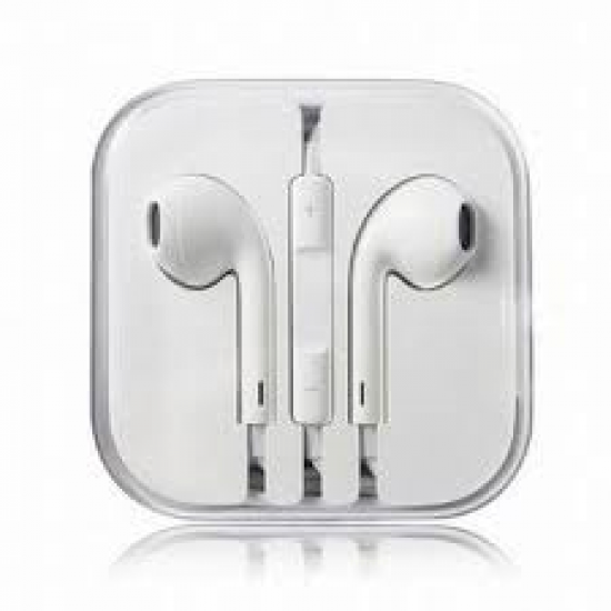 EARPHONES EARPODS  WITH VOLUME REMOTE+MIC FOR APPLE iPHONE 4/5/6  (WHITE)