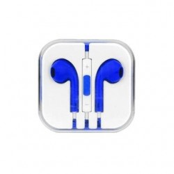 EARPHONES EARPODS  WITH VOLUME REMOTE+MIC FOR APPLE iPHONE 4/5/6  (BLUE)