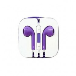 EARPHONES EARPODS  WITH VOLUME REMOTE+MIC FOR APPLE iPHONE 4/5/6  (PURPLE)