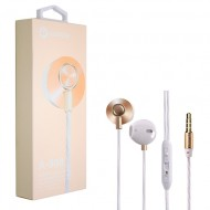 WOOZIK A900-GOLD-HEADPHONE WITH MIC/VOL