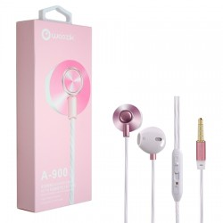 WOOZIK A900-ROSE GOLD-HEADPHONE WITH MIC/VOL
