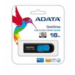 ADATA UV128 - 16GB - USB 3.1 RETRACTABLE FLASH DRIVE BLUE